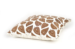 Brown Leaves/Confetti Euro Sham
