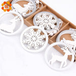 Snowflake Wooden Christmas Ornaments