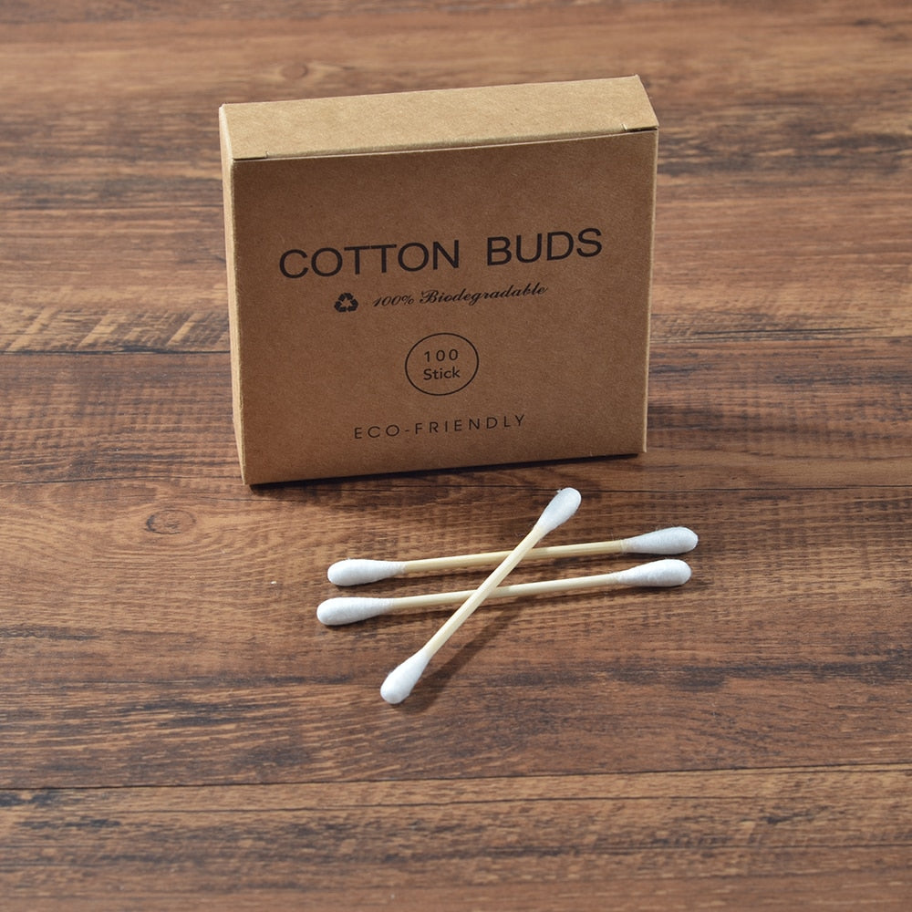 Bamboo Cotton Earbuds