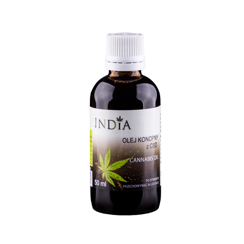 INDIA COSMETICS olej konopny z CBD 50 ml