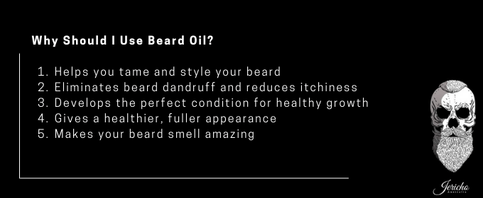 why you should use beard oil infographic