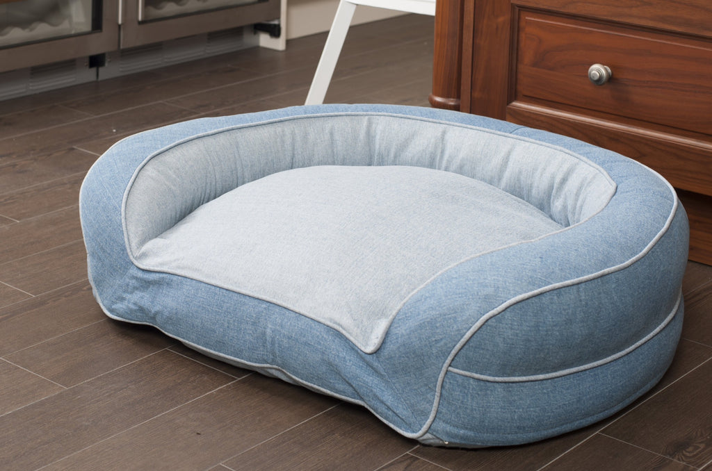 Blue Jean Horseshoe Couch