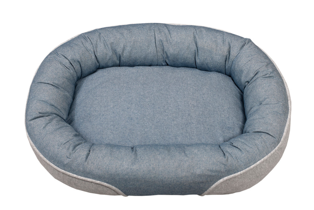 Denim Top Oval Cuddler