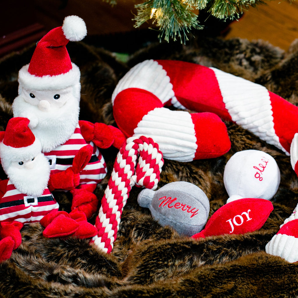 Candy Striped Santa Knotties