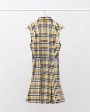 Load image into Gallery viewer, LAFORMELA Yellow & Black A-Line Dress with Collar