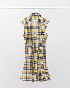 LAFORMELA Yellow & Black A-Line Dress with Collar