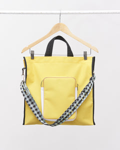 LAFORMELA Yellow Tote Bag with Crossbody Strap