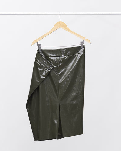 CHATTY Faux Leather Skirt