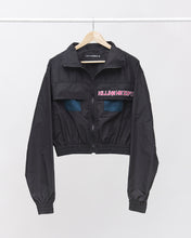 Load image into Gallery viewer, LAFORMELA Windbreaker Bomber Jacket with Pink Patch