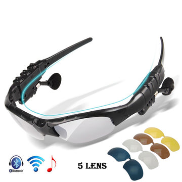 VICTGOAL Polarized Anti-UV Sports Sunglasses w/5 Lenses & BLUETOOTH