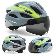 Load image into Gallery viewer, Goggle Bike Helmet w/ LED Rear Light For Cycling & E-bikers