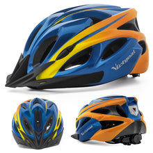 Load image into Gallery viewer, Sun Visor Bike Helmet w/ LED Rear Light For Cycling & E-bikers