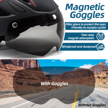 Load image into Gallery viewer, Goggle Road Bike Helmet w/ USB Taillight