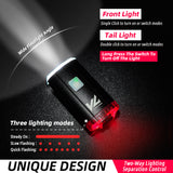 2 in1 USB Front & Rear Bike Light Outdoors