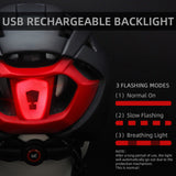 Urban Cycling Helmet w/ Goggles & USB  LED