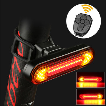 VICTGOAL USB Bike Rear Light Remote Red Waterproof Seat Post LED Backlight