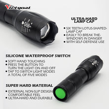 Load image into Gallery viewer, Alloy LED T6 Bike Flashlight Torch Hammer