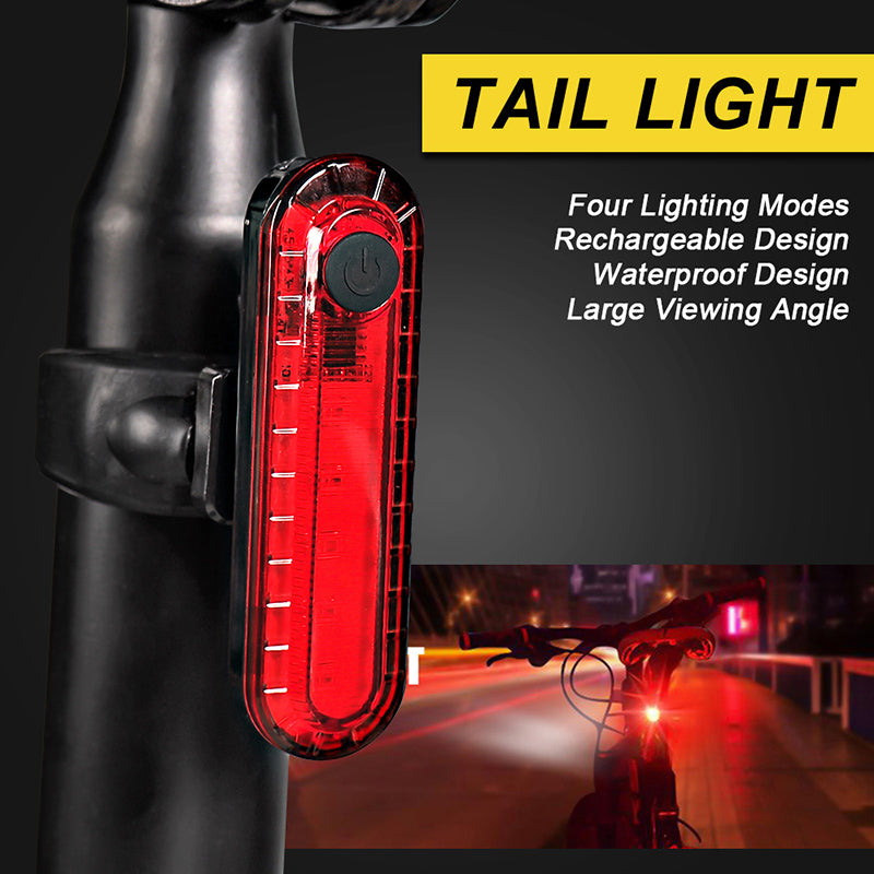 VICTGOAL USB Rechargeable Bike Light Set Ultrabright Front & Rear Light