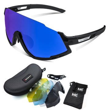 UV400 Polarized Sports Sunglasses 5 Lenses
