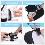 Pro Padded Sports Gloves Gym Workout