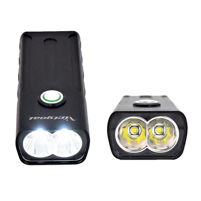 Alloy USB Dual LED Bike Light Set Phone Charger