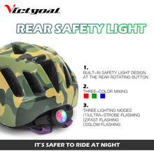 Load image into Gallery viewer, KIDS Bicycle Helmet w/ LED Rear Light