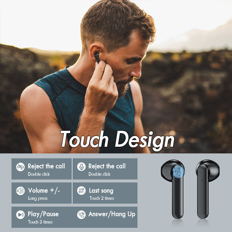 TWS BLUETOOTH EARBUDS TOUCH CONTROL STEREO HEADPHONES
