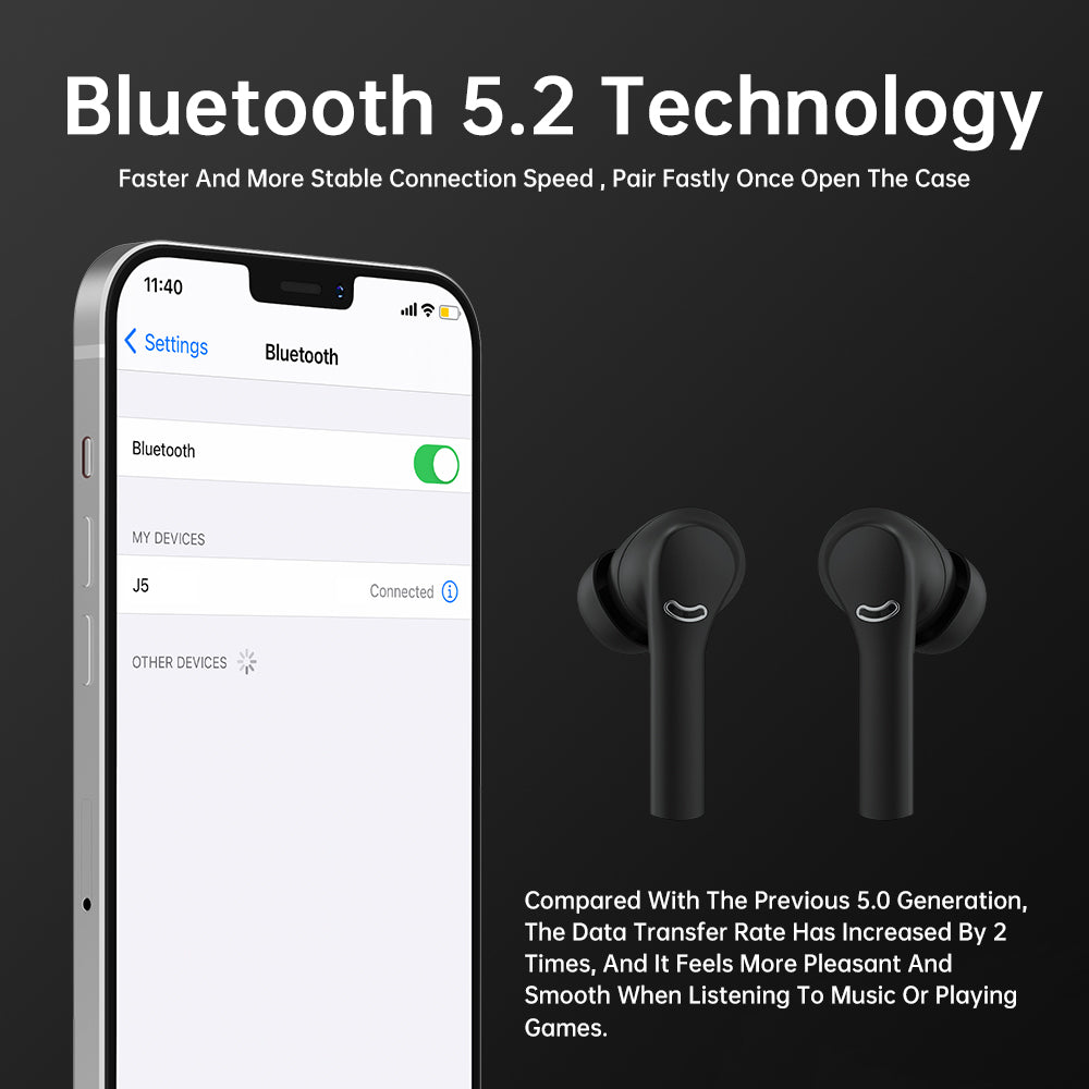 ANC WIRELESS EARBUDS TOUCH CONTROL BLUETOOTH TWS SPORTS HEADPHONE
