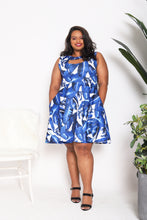 Load image into Gallery viewer, Tropical Cutout Pocket Dress