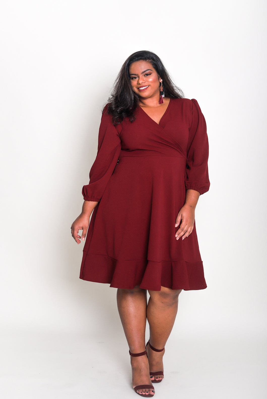 Long Sleeve Wrap Dress (Long)