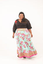 Load image into Gallery viewer, Mint Chiffon Lehenga Skirt