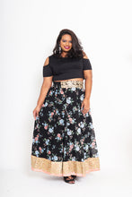Load image into Gallery viewer, Black Chiffon Lehenga Skirt