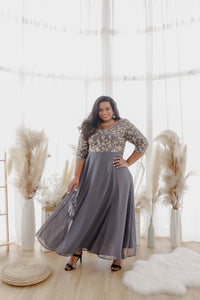 Net Anarkali Dress