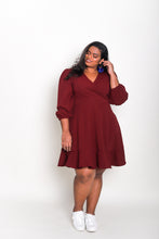 Load image into Gallery viewer, Long Sleeve Wrap Dress (Short)