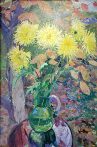 "Limited edition print ""Yellow Asters"" framed"