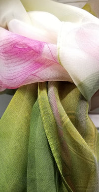 Green silky smooth scarf