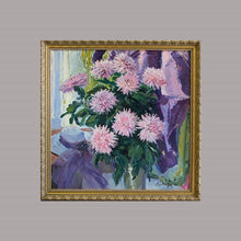 Load image into Gallery viewer, Pink Asters with Lady's Hat