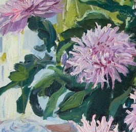 Pink Asters with Lady's Hat