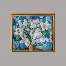Load image into Gallery viewer, Pink Flowers on Blue