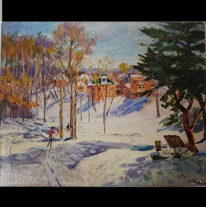 "Limited edition print ""Ski Walk in Winter"""