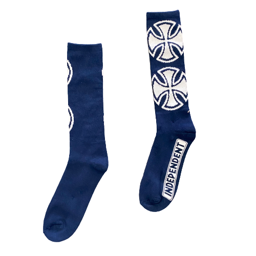 Independent - Crosses Crew Sock (Navy)