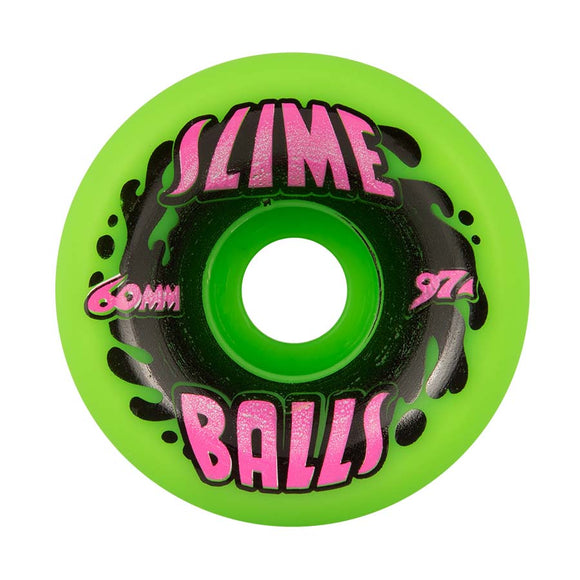 Santa Cruz - Splat Vomits Neon Green 97a Slime Balls 60mm