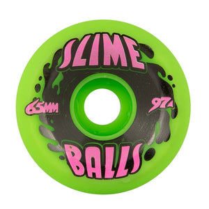 Santa Cruz - Splat Big Balls Neon Green 97a Slime Balls 65mm