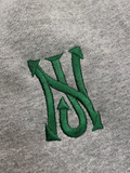 NJ - Street Logo Embroidered Sweatpants (Grey/Green Logo)