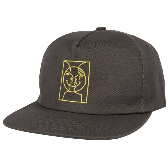 Krooked - Adjustable Moon Smile Snapback (Grey/Yellow)
