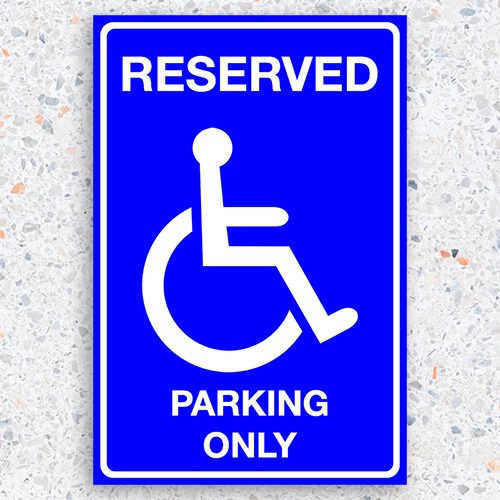 Reserved Parking Only - 12 x 18