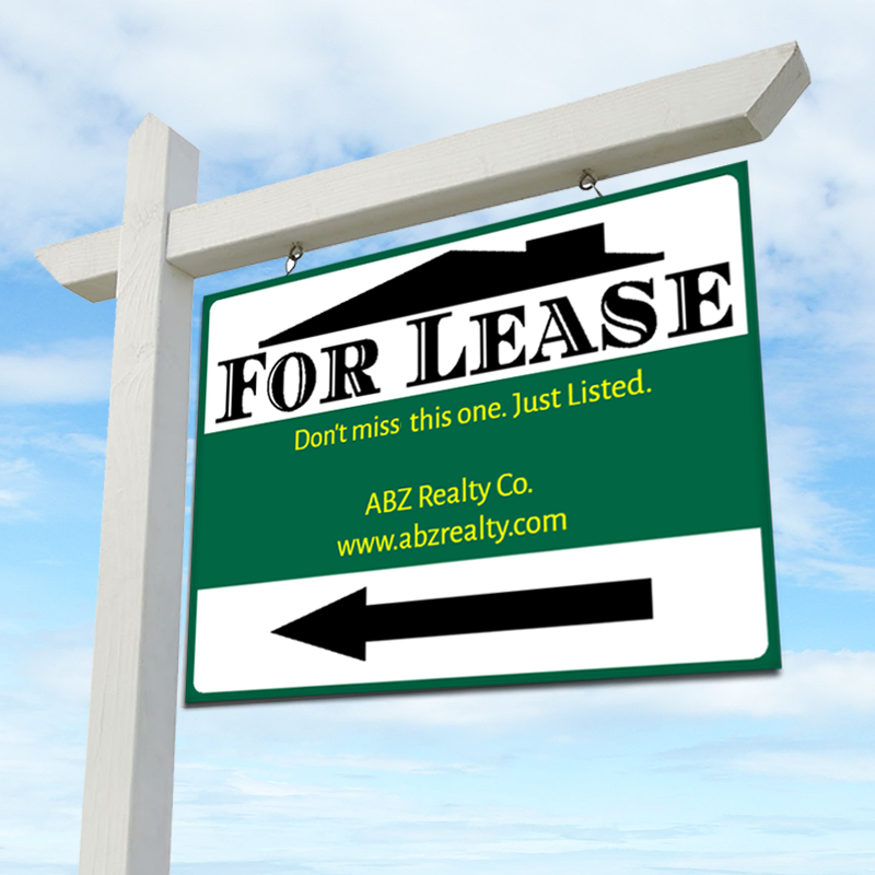 FOR LEASE 18 x 24 Real Estate Sign