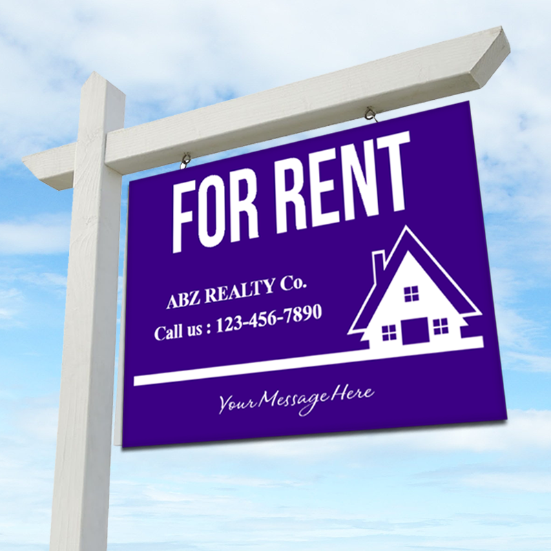 FOR RENT 18 x 24 Real Estate Sign