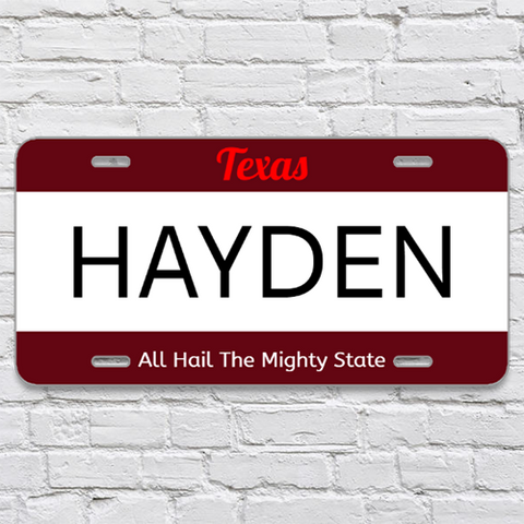 State and Name License Plate - 6x12 - Design 3