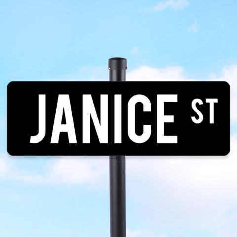 Create Your Own Name 6 x 18 Street Sign Des 1